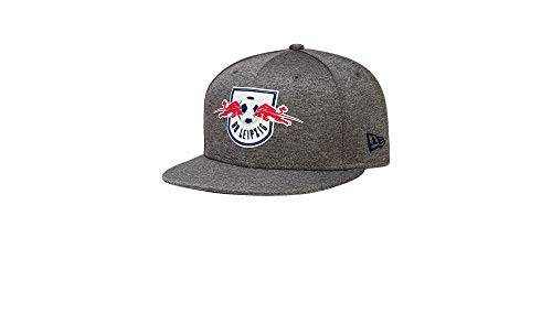 RB Leipzig New Era 9FIFTY Club Tape Flatcap Youth, Gris Youth One Size Cap flaches Schild, RasenBallsport Leipzig Sponsored by Red Bull, Original Bekleidung & Merchandise