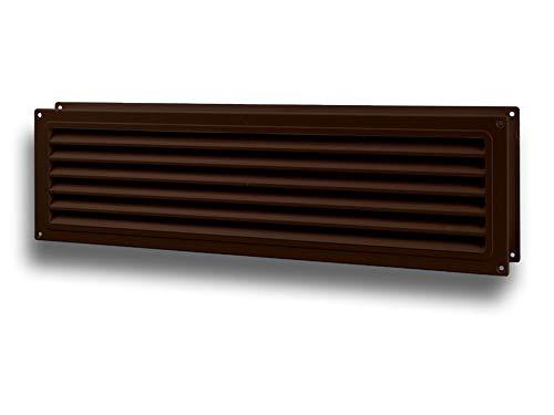 Deur ventilatierooster deur ventilatie dubbelzijdig kunststof 450 uitvoering standaard bruin