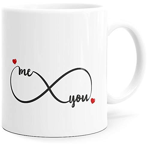 Taza con texto en inglés 'Amour Me You', ideal como regalo original para parejas, enamorados, hermanas, maridos, esposas, prometidas para cumpleaños, San Valentín, Navidad, Dino Mugs