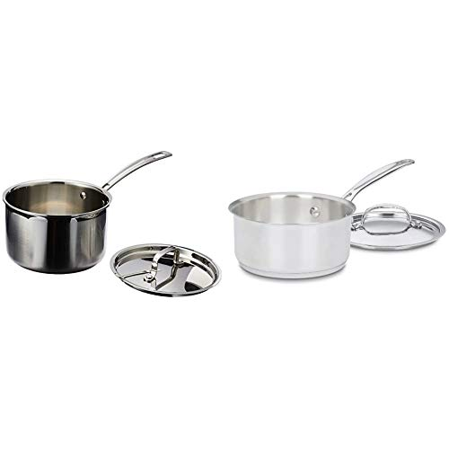 Cuisinart MultiClad Pro Stainless Steel 3-Quart Saucepan with Cover & 719-16 Chef