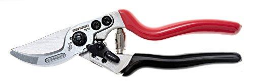 BERGER Tijeras de poda Giratorio Aluminio 1014 con Mangos Ligeros y Cuchillas Intercambiables, rojo, Set de 4 Piezas