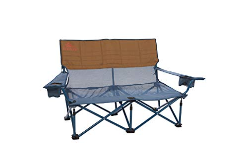 Kelty Mesh Low-Love Seat Camping Chair, Tapestry/Canyon Brown – Portable, Folding Chair for Festivals, Camping and Beach Days - Updated 2019 Model