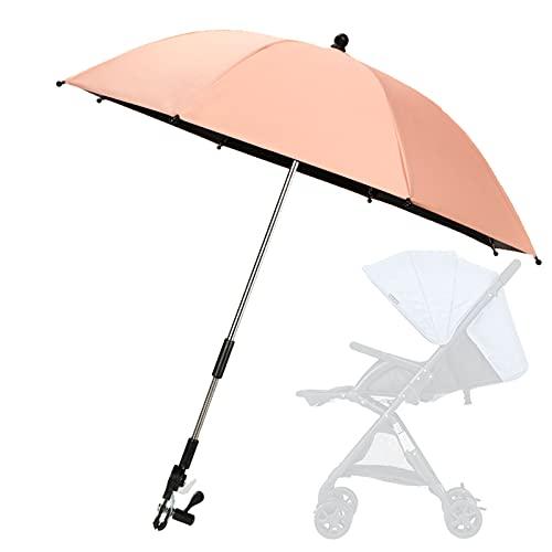 AqGwfcH Paraguas Carrito Bebé, Sombrilla Carrito Bebe, 85cm de Diámetro Apto para Todas Las Edades, Sujeta Paraguas Silla Bebe para Tienda