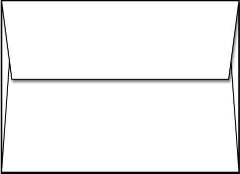Envelope, A2 White, Square Flap - 250 Envelopes - Limited Papers? Brand Envelopes