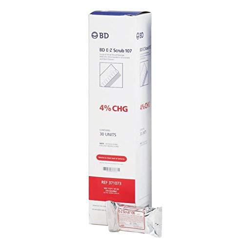 E-Z Scrub Preoperative Surgical Scrub Brushes, 4% CHG 30/Box