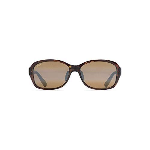 Maui Jim Women's Koki Beach Cat-Eye Sunglasses, Olive Tortoise/HCL Bronze Polarized, Medium