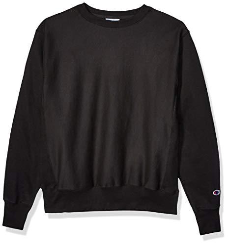 Champion LIFE Men's Reverse Weave Sweatshirt, Black, S
