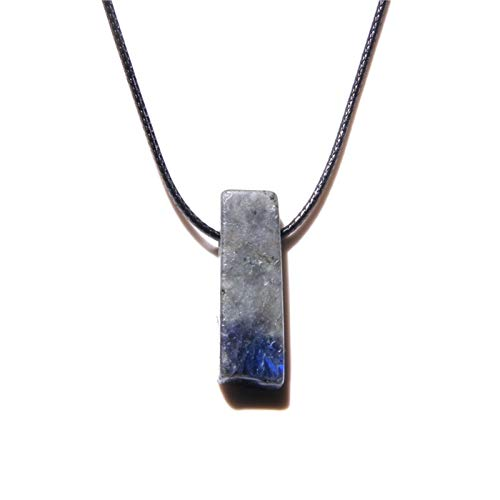 YZRDY Necklaces Natural Stone Slice Point Beads Necklace Lazuli Turquoises Beads Necklaces For Women Men Jewelry Party (Metal Color : Labradorite)