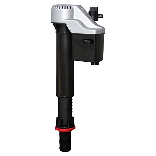Korky 528MP QuietFILL Platinum Fill Valve-Fits Most Toilets-Easy to Install-Made in USA, Universal 99%, Black