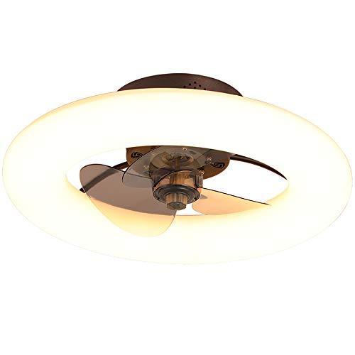 Luces de ventilador de techo, dormitorio Ventilador de techo invisible, comedor Lámpara silenciosa de conversión de la frecuencia de la sala de estar con ventilador