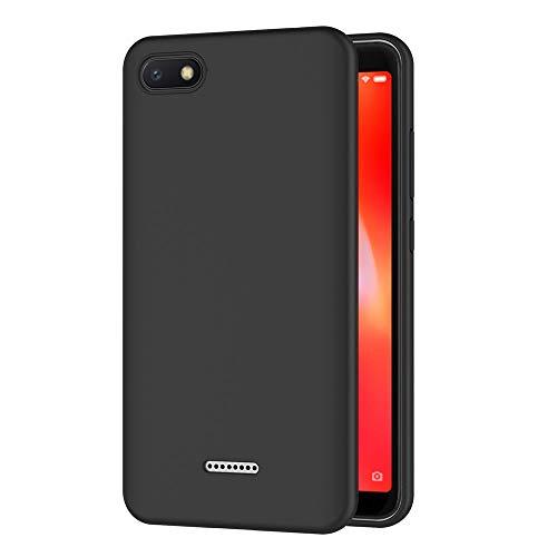 AICEK Cover per Xiaomi Redmi 6A, Cover Xiaomi Redmi 6A Nero Silicone Case Molle di TPU Sottile Custodia per Redmi 6A (5,45 Pollici)