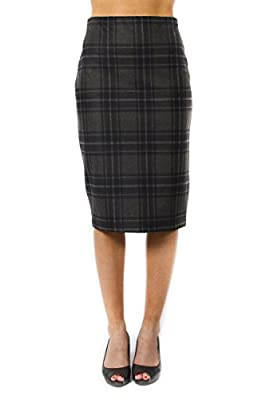 Jules and Leopold Women's Plaid Pencil Skirt