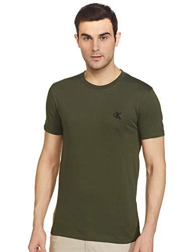 Calvin Klein Jeans – Camiseta de hombre Slim con logotipo Verde M