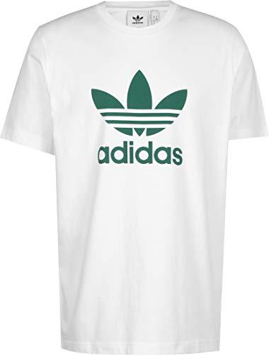 adidas Trefoil T-Shirt, Uomo, White/Future Hydro F10, M