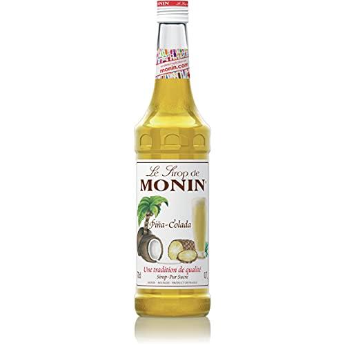MONIN Sirop de Pina-Colada pour Cocktail et Cocktail Sans Alcool - Arômes Naturels - 70cl