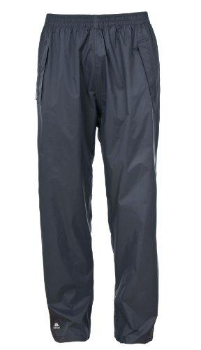 Trespass Qikpac Pant, Flint, XXS, Kompakt Zusammenrollbare Wasserdichte Regenhose mit 3 Taschenöffnungen für Damen und Herren / Unisex, XX-Small / 2XS / 2X-Small, Grau