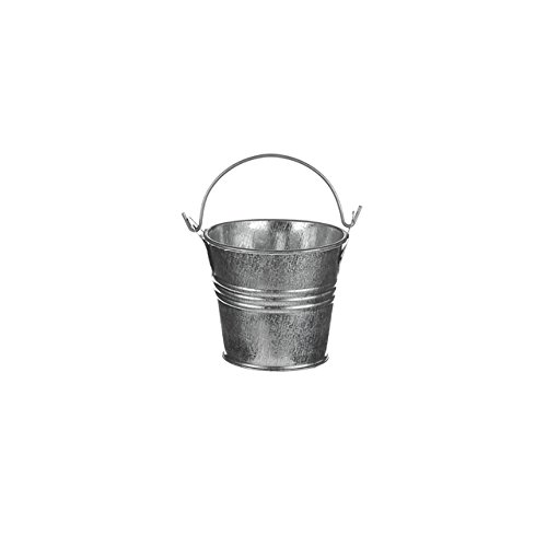 FloristryWarehouse Seau décoratif en métal galvanisé brillant 5 cm de haut