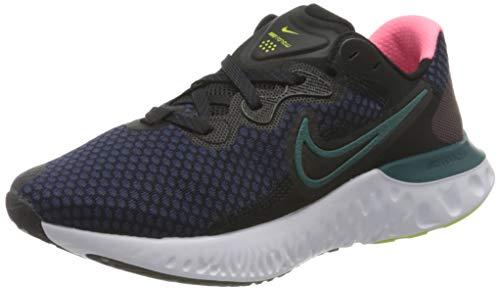 Nike Wmns Renew Run 2, Scarpe da Corsa Donna, Black/Blackened Blue-Dk Teal Green-Sunset Pulse-Cyber, 38 EU