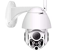 Machpro Machsmart® V101 - 12 MP Floodlight WiFi Wireless PTZ Bullet Camera 30 Metre Range,Machpro
