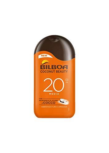 Bilboa Coconut Beauty Latte Solare con Protezione SPF 20, Latte Solare con Microperle e...
