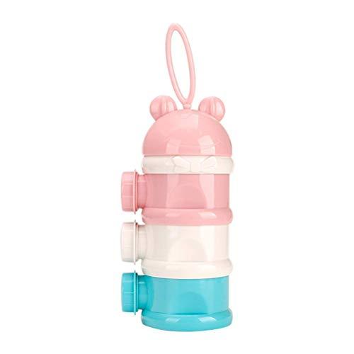 Stapelbare Milchdosierbox Formulierspender, Milchpulver-Portionierer für,dreischichtige Milchpulverbox mit drei Öffnungen Snack-Vorratsbehälter - kein Pulver Leckage