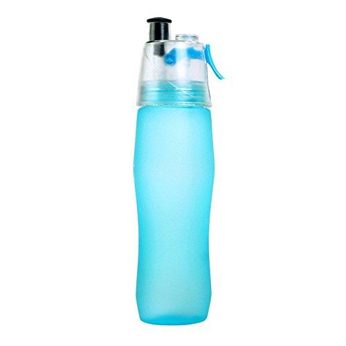 NYKKOLA Bouteille d'eau de 700 ml anti-fuite pour randonnée, camping, escalade, voyage, école, bleu – Sans BPA