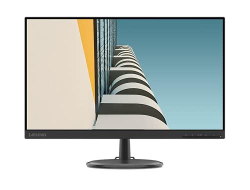 Lenovo D24-20 Monitor - Display 23.8' FullHD, VA (1920x1080, 75Hz, 4 ms, AMD FreeSync, Input HDMI+VGA, Cavo VGA) Inclinazione e altezza regolabili - Raven Black
