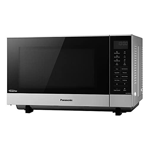 Panasonic NN-SF464MBPQ Flatbed Microwave Oven, 27 Litre, Silver