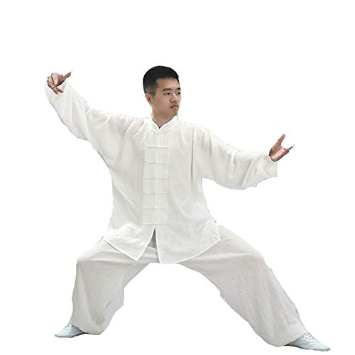 CHIYA Unisex Tai Chi Anzug Damen und Herren Kung Fu Uniformen Kampfsport Baumwolle Flachs und Seide Chinoiserie