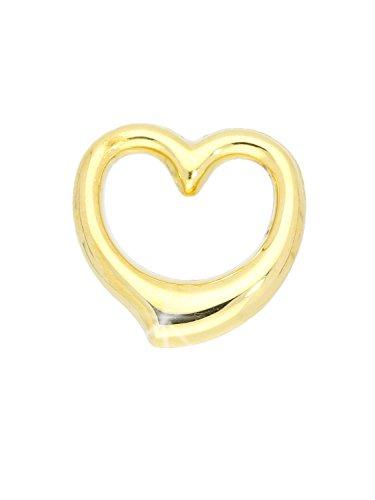 Herz Anhänger (Ohne Kette) Gelbgold 585 Gold (14 Karat) 13mm x 12mm Swingherz Kettenanhänger Verity A-03921-G401