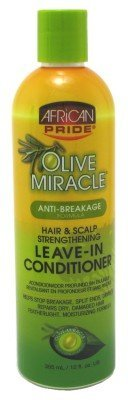 African Pride Olive Miracle Leave-In Après-shampoing, 12 Ounce by African Pride