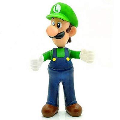 13cm Mario Bros Luigi Mario Yoshi Koopa Yoshi Mario Maker Odyssey Mushroom Toadette PVC Action Figures Speelgoed Modelpoppen, Groene hoed Luigi