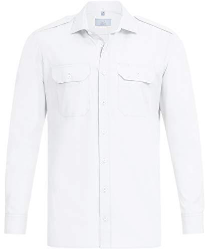 GREIFF Herren Pilothemd Corporate WEAR 6730 Basic Regular Fit - Weiß - Gr. 41/42