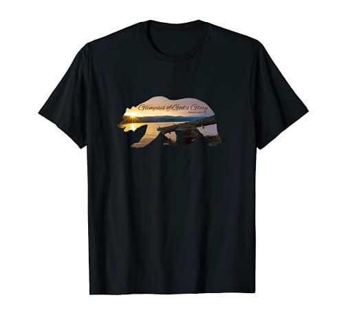 Glimpses of God's Glory Shaver Lake Bear Diseño cristiano Camiseta