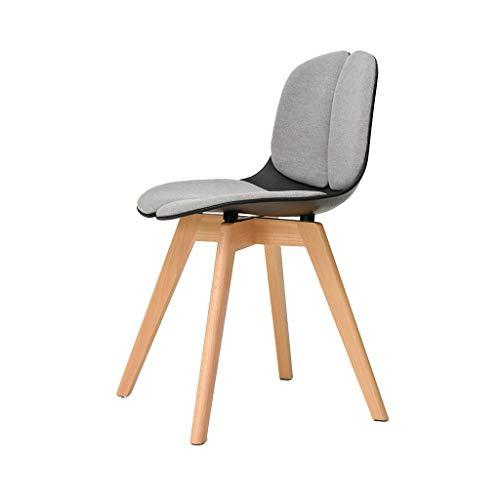 chenyang86 Chaise-simple mode chaise longue en bois massif étude à la maison fauteuil de chambre (Couleur : Blanc)