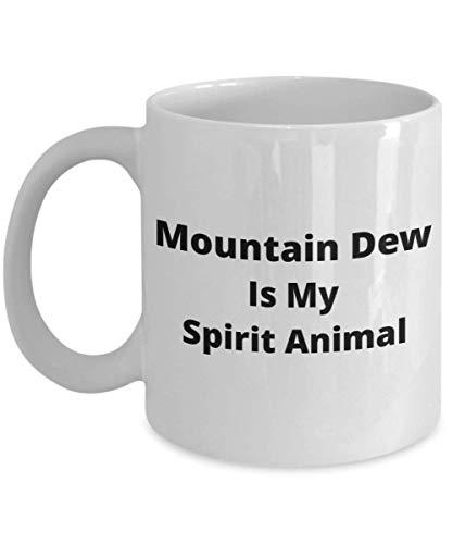 N\A Mountain Dew Is My Spirit Animal Taza de café - Taza de Regalo Divertida para los Amantes de Mountain Dew