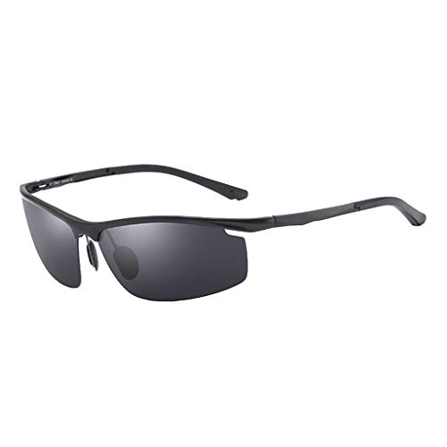 Superlight Frame Design.Sports Eyewear.Dunettes de Soleil de plongée.Polaris Lunettes de Soleil.pour Hommes et Femmes.UV400 Protection.Classic Sunglasses. (Color : Noir)
