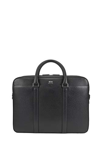 BOSS Mens Signature D doc Signature Collection Double Document case in palmellato Leather Size One Size
