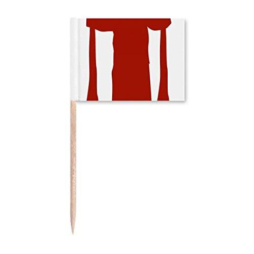 China Peking Opera Outline Zahnstocher Flaggen Marker Topper Party Dekoration