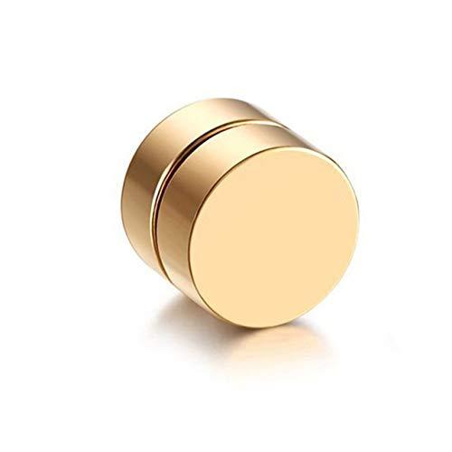 EmNarsissus Pendientes de Clip magnéticos magnéticos con imán de Moda Vintage para Hombre, Pendientes de Clip no perforantes, Pendientes Falsos para Amante del Novio