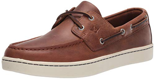 Price comparison product image Sperry Mens Sperry Cup 2-Eye Boat Shoe,  Dark Tan,  9