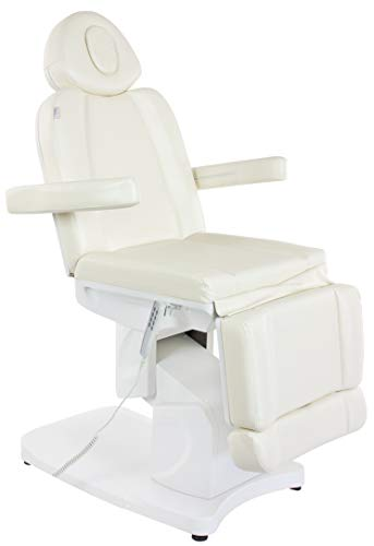 ALL ELECTRIC Solid Opal Electric Massage Table, Facial Bed, Facial Chair with 4 Electric Adjustable Motors Beige
