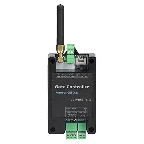 Ouvre-porte et Porte de Garage, Télécommande de Téléphone avec Commutateur de Relais GSM 2G pour le Contrôle D'accès et le Garage, Noir