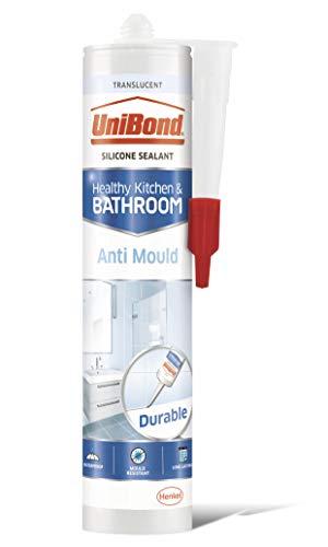 Unibond - Cartuccia di sigillante antimuffa per bagno e doccia, colore: Traslucido