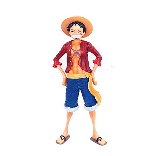 UNILIFE Figura de Acción de One Piece Smiley Luffy Se Pueden Cambiar Tres Expresiones Figuras Coleccionables Juguete para Niños 28 cm