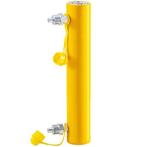 Mophorn 10T 10Inch Stroke Hydraulic Cylinder Jack Solid Single Acting Hydraulic Ram Cylinder 250mm Hydraulic Lifting Cylinders (10T 10Inch)