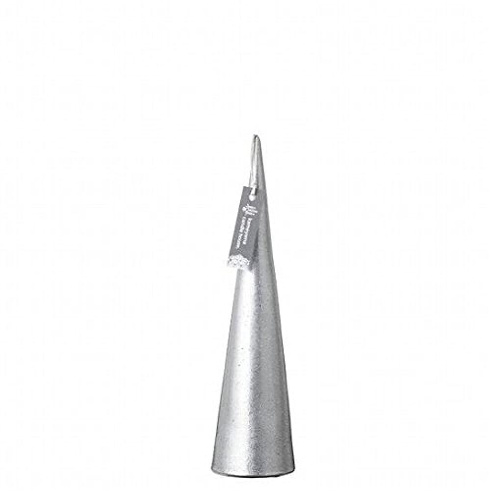 印象王位の量kameyama candle(カメヤマキャンドル) メタリックコーンM 「 シルバー 」(A9560110SI)