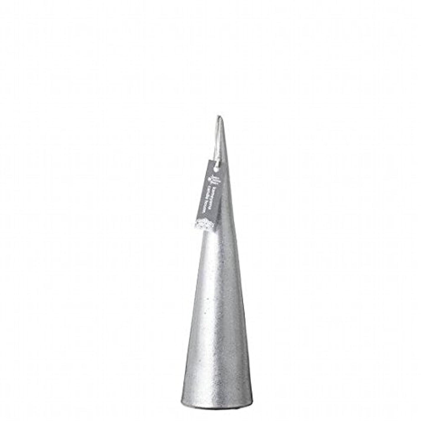 ジュニアスパン個性kameyama candle(カメヤマキャンドル) メタリックコーンM 「 シルバー 」(A9560110SI)