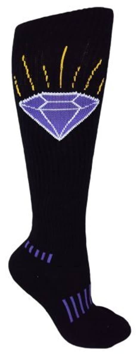 MOXY Socks Black Knee-High The Brilliant Purple Diamond Fitness Deadlift Socks