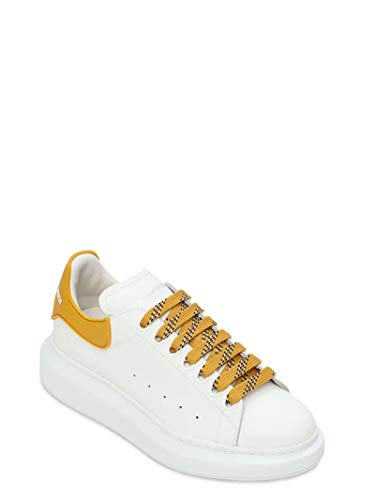 Alexander McQueen White/Yellow Oversize Sneakers New/Authentic (38.5, Numeric_8_Point_5)